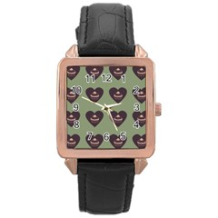 Cupcake Green Rose Gold Leather Watch