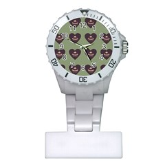 Cupcake Green Plastic Nurses Watch by snowwhitegirl