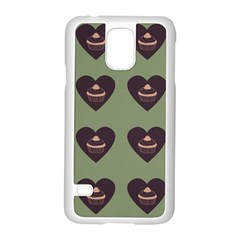 Cupcake Green Samsung Galaxy S5 Case (white) by snowwhitegirl
