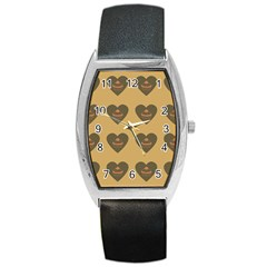 Cupcake Pumpkin Orange Grey Barrel Style Metal Watch by snowwhitegirl