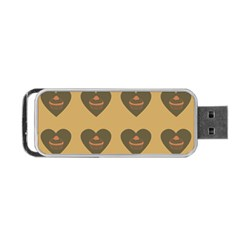 Cupcake Pumpkin Orange Grey Portable Usb Flash (two Sides) by snowwhitegirl