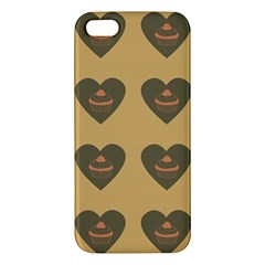 Cupcake Pumpkin Orange Grey Apple Iphone 5 Premium Hardshell Case by snowwhitegirl