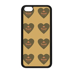 Cupcake Pumpkin Orange Grey Apple Iphone 5c Seamless Case (black) by snowwhitegirl