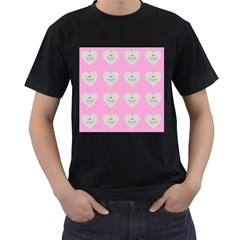 Cupcake Pink Grey Men s T Shirt (black) by snowwhitegirl