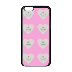 Cupcake Pink Grey Apple Iphone 6/6s Black Enamel Case by snowwhitegirl