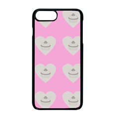 Cupcake Pink Grey Apple Iphone 7 Plus Seamless Case (black) by snowwhitegirl