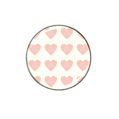 Cupcake White Pink Hat Clip Ball Marker (4 Pack) by snowwhitegirl
