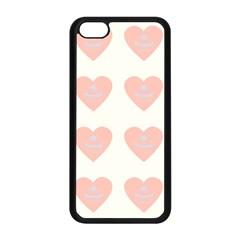 Cupcake White Pink Apple Iphone 5c Seamless Case (black) by snowwhitegirl