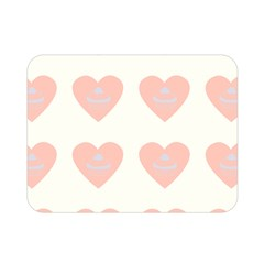 Cupcake White Pink Double Sided Flano Blanket (mini)  by snowwhitegirl