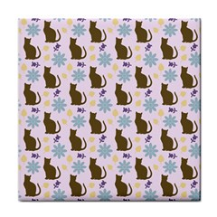 Outside Brown Cats Tile Coasters by snowwhitegirl
