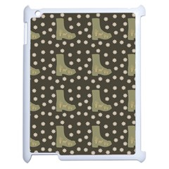 Charcoal Boots Apple Ipad 2 Case (white) by snowwhitegirl
