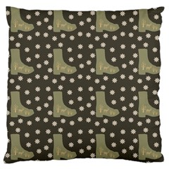 Charcoal Boots Large Cushion Case (two Sides) by snowwhitegirl