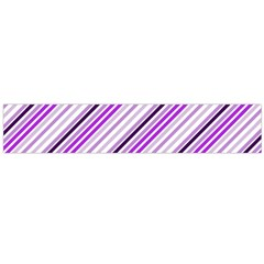 Purple Diagonal Lines Large Flano Scarf