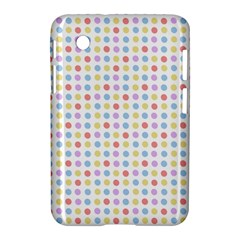 Blue Pink Yellow Eggs On White Samsung Galaxy Tab 2 (7 ) P3100 Hardshell Case  by snowwhitegirl