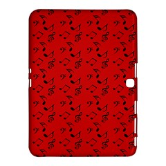 Red Music Samsung Galaxy Tab 4 (10 1 ) Hardshell Case  by snowwhitegirl