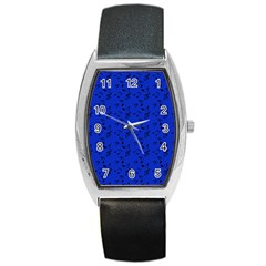 Royal Blue Music Barrel Style Metal Watch by snowwhitegirl