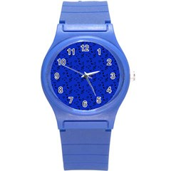 Royal Blue Music Round Plastic Sport Watch (s) by snowwhitegirl