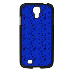 Royal Blue Music Samsung Galaxy S4 I9500/ I9505 Case (black) by snowwhitegirl
