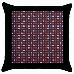 Grey Pink Lilac Brown Eggs On Brown Throw Pillow Case (black) by snowwhitegirl