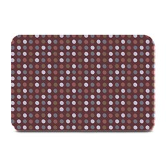 Grey Pink Lilac Brown Eggs On Brown Plate Mats by snowwhitegirl