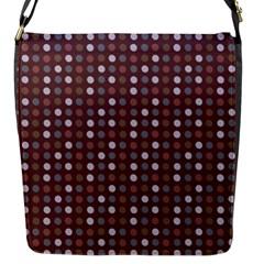 Grey Pink Lilac Brown Eggs On Brown Flap Messenger Bag (s) by snowwhitegirl