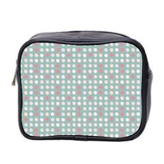 Pink Peach Grey Eggs On Teal Mini Toiletries Bag 2 Side by snowwhitegirl