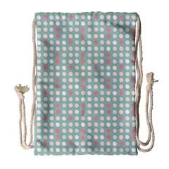 Pink Peach Grey Eggs On Teal Drawstring Bag (large) by snowwhitegirl