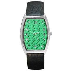 Green Music Barrel Style Metal Watch by snowwhitegirl