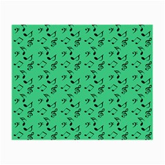 Green Music Small Glasses Cloth (2 Side) by snowwhitegirl