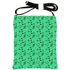 Green Music Shoulder Sling Bags by snowwhitegirl