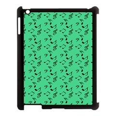 Green Music Apple Ipad 3/4 Case (black)