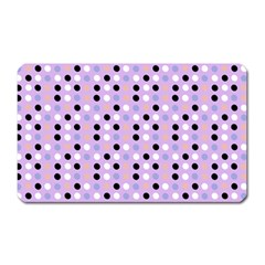 Black White Pink Blue Eggs On Violet Magnet (rectangular) by snowwhitegirl