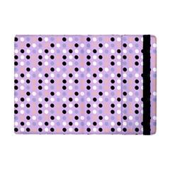 Black White Pink Blue Eggs On Violet Apple Ipad Mini Flip Case by snowwhitegirl
