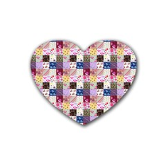 Quilt Of My Patterns Small Heart Coaster (4 Pack)