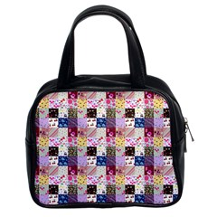 Quilt Of My Patterns Small Classic Handbags (2 Sides) by snowwhitegirl