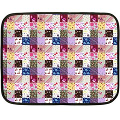 Quilt Of My Patterns Small Double Sided Fleece Blanket (mini)