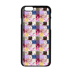 Quilt Of My Patterns Small Apple Iphone 6/6s Black Enamel Case by snowwhitegirl