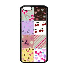 Quilt Of My Patterns Apple Iphone 6/6s Black Enamel Case by snowwhitegirl