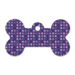 Violet Grey Purple Eggs On Grey Blue Dog Tag Bone (one Side) by snowwhitegirl