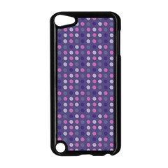 Violet Grey Purple Eggs On Grey Blue Apple Ipod Touch 5 Case (black) by snowwhitegirl