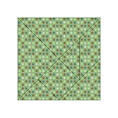 Green Brown  Eggs On Green Acrylic Tangram Puzzle (4  X 4 ) by snowwhitegirl