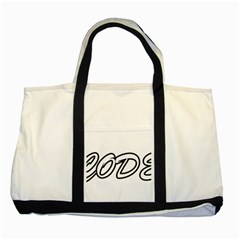 Code White Two Tone Tote Bag by Code