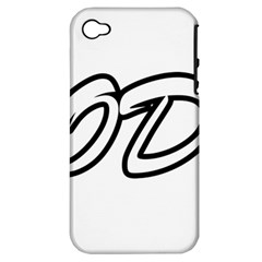 Code White Apple Iphone 4/4s Hardshell Case (pc+silicone) by Code