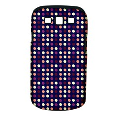 Peach Purple Eggs On Navy Blue Samsung Galaxy S Iii Classic Hardshell Case (pc+silicone) by snowwhitegirl