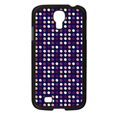 Peach Purple Eggs On Navy Blue Samsung Galaxy S4 I9500/ I9505 Case (black) by snowwhitegirl