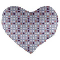 Pink Purple White Eggs On Lilac Large 19  Premium Heart Shape Cushions by snowwhitegirl