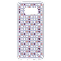 Pink Purple White Eggs On Lilac Samsung Galaxy S8 White Seamless Case by snowwhitegirl