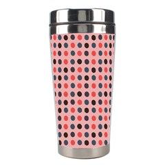 Grey Red Eggs On Pink Stainless Steel Travel Tumblers by snowwhitegirl