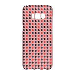 Grey Red Eggs On Pink Samsung Galaxy S8 Hardshell Case  by snowwhitegirl