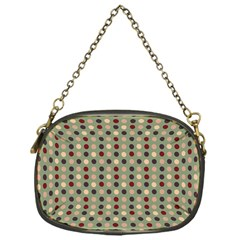 Grey Beige Burgundy Eggs On Green Chain Purses (one Side)  by snowwhitegirl
